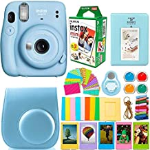 Fujifilm Instax Mini 11 Camera with Fujifilm instax Mini Instant Film (20 Sheets) Bundle with Deals Number One Accessories Including Case, Filters, Album, Lens, and More