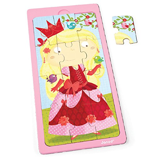 Janod - J07069 - Puzzle Bois Princesse Jessica 12 pcs
