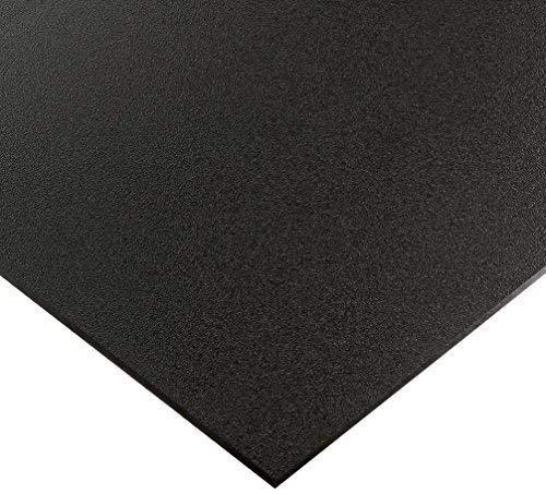 "Utility Grade Marine Board HDPE (High Density polyethylene) Plastic Sheet 3/4"" x 12"" x 24"" Black Color Textured"