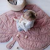 AIBAB Baby Spielmatte Rainforest Erlebnisdecke Neu Blätter Kind Bodenmatte Spielzeug Krabbeldecke Europäischer und Amerikanischer Stil Gamepad Schlafdecke Waschbar Tragbar Baumwolle Stoff
