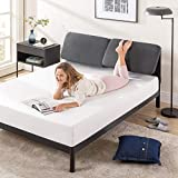 ZINUS Avery Platform Bed with Reclining Headboard / No Box Spring Needed / Cushioned Adjustable Headboard with Customizable Height / Easy Assembly, Dark Grey, Queen