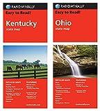 Rand McNally State Maps: Kentucky and Ohio (2 Maps)