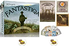 For 2-4 players. 8 years and up. 45+ minute playing time. Endless replay ability. Fantastiqa: Rucksack is a deck-building strategy game set in a fantastical landscape of dark forests, mist-shrouded highlands, and frozen wastes. As you and your foes j...