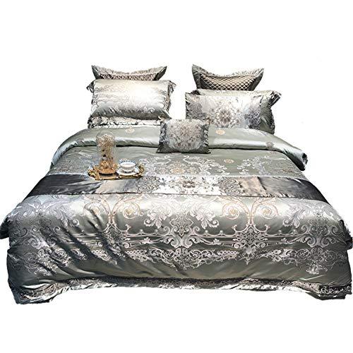 Save %41 Now! JR%L European-Style Luxury Jacquard Duvet Cover Sets, 4 Pieces Luxury Comforter Cover ...