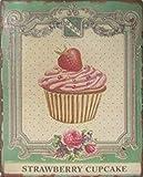 1art1 Kochkunst - Strawberry Cupcake Poster Blechschild 35
