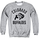 University of Colorado Official One Color Buffaloes Logo Unisex Adult Crewneck Sweatshirt, Athletic Heather, Medium