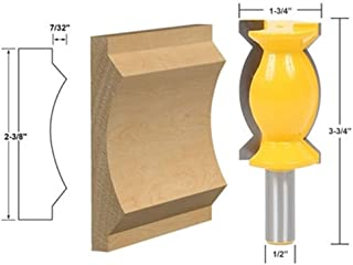 Carbide Tipped Crown Molding Router Bit 1/2'' Shank Wood Milling Cutter