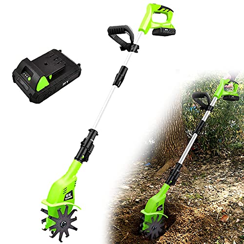 LIMEID Elektro Bodenhacke Gartenkultivator Gartenhacke Motorhacke elektrisch - 800 Watt - Arbeitsbreiten 10 cm - Arbeitstiefe 25 cm - Teleskopstange