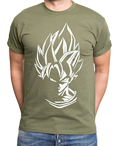 Super Son Goku T-Shirt pour Homme Dragon Master Son Ball Vegeta Turtle Roshi DB, Farbe2:Khaki;Größe2:L