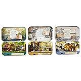 sharprepublic 3X DIY Handcraft Tin Box Theatre Series Dollhouse Miniature Toy B-Day Gift