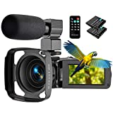 Vnieetsr Video Camera, 2.7K Camcorder Ultra HD 36MP YouTube Vlogging Camera 16X Digital Zoom 3 inch IPS Touch Screen Video Camcorder with External Microphone