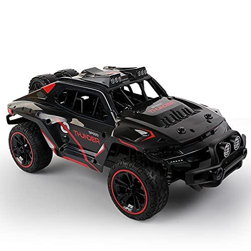 1:14 Negro Control remoto 2.4Ghz Radio Coche de alta velocidad 30Km / h Drift Off-Road Car con resorte de aleación y tornillos para niños fuertes y duraderos, niñas, niños, adultos para regalos ADSVME