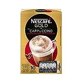 NESCAFÉ Café Cappuccino Descafeinado | Caja de sobres |Paquete de 10x25g de Café
