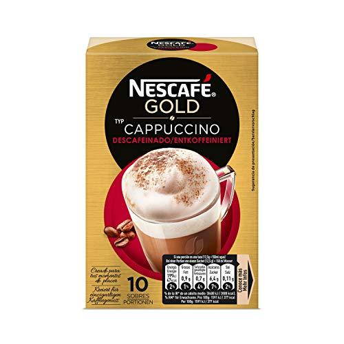 NESCAFÉ Café Cappuccino Descafeinado, Caja de sobres, 6 Paquetes de 10x25g de Café - Total: 1.5 kg