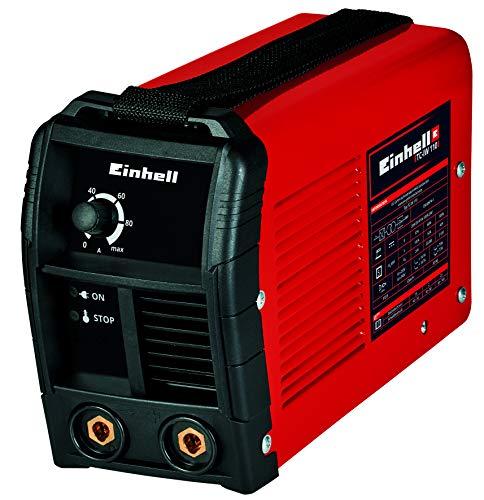 Einhell Inverter-Schweißgerät TC-IW 100 (Schweißstrom 20-100 A stufenlos regelbar, Thermowächter, Anti-Stick-Funktion, Stahlblechgehäuse, Tragegurt, inkl. Massenklemme, Elektrodenhalter)