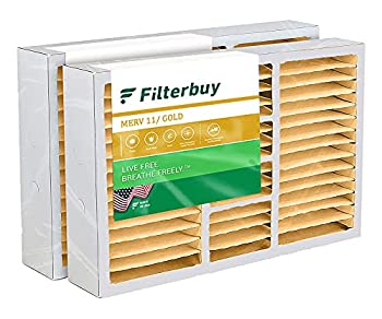 FilterBuy 20x25x5 Air Filter  2-Pack MERV 11  Pleated Replacement HVAC AC Furnace Filters for Honeywell Carrier Bryant Day & Night Lennox and Payne  Actual Size  19.88  x 24.75  x 4.38