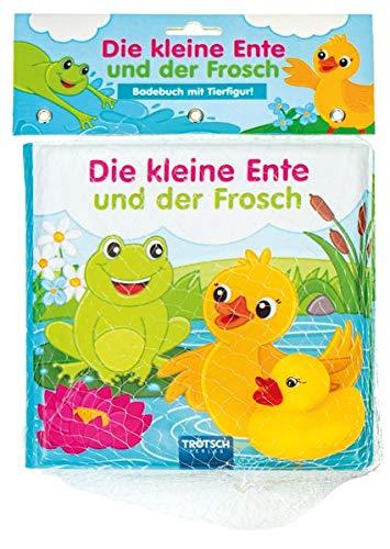 Badebuch Die kleine Ente und der Frosch: mit 1 Figur (Badebücher): Entdeckerbuch Beschäftigungsbuch Spielbuch Bilderbuch