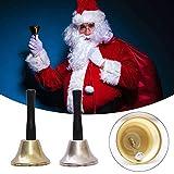 gdfh Weihnachtsmann-Rasseln, Weihnachtsdekorationen, Rasseln Weihnachten Handglocken Messing Handglocken Tischglocken Abendessen Telefonglocken