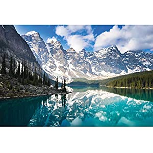 """Enovoe 1000 Piece Puzzle - Moraine Lake - Large, 27"""" x 20"""", Jigsaw Puzzles for Adults and Kids by Enovoe"""