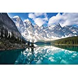 Enovoe 1000 Piece Puzzle - Moraine Lake - Large, 27' x 20', Jigsaw Puzzles for Adults and Kids