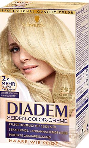 SCHWARZKOPF DIADEM Seiden-Color-Creme 792 Extra helles Platinblond Stufe 3, 3er Pack (3 x 180 ml)
