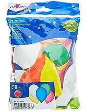 Susy Card luftballonger, 50 stycken, latex, färgsorterade