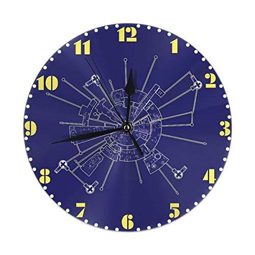 gardenia store Espacio 1999 Reloj de Pared 2 Moonbase Alpha Diagrama Circular Home Decor 9.84'