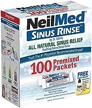 Neilmed Sinus Rinse - Nasal Rinse Refill Kit - 100 per Box