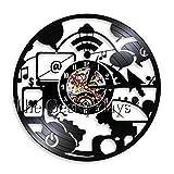 WYLYSD LED Reloj de Pared Grande Reloj de Pared de computadora Elegante Diseño Moderno Decoración de Arte de Oficina Reloj de Pared Computadora Frikis Frikis