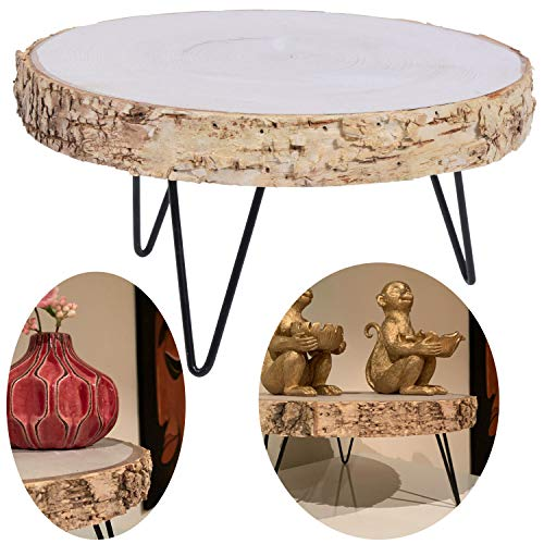 LS-LebenStil Holz Beistelltisch 28cm Mini Couch-Tisch Tablett Blumenständer Pflanzenhocker