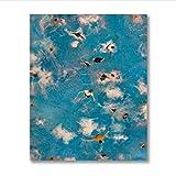 PDFKE Sommerschwimmen Party Wandkunst Drucke Nordic Poster