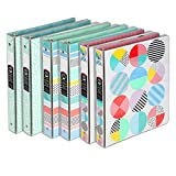 1 inch Round 3 Ring Binder,Holds 8.5' x 11' Paper Designer Collection Binder ,Customized View Binders for Office/School/Home