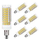 E12 LED Bulb 7W Ceiling Fan Light Bulbs Equivalent to 60W-75W Halogen Bulb Dimmable Candelabra E12 Base C7 LED Bulbs AC 110V-120V Warm White 3000K Chandelier Light Bulbs (6 Pack)