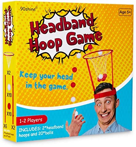 90shine Christmas Gag Gifts Headband Hoop Ball Game White Elephant Exchange Party Xmas Holiday product image