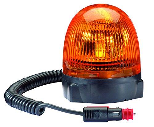 HELLA 2RL 009 506-301 Rundumkennleuchte - Rota Compact - 12V - Lichtscheibenfarbe: gelb - Magnetbefestigung