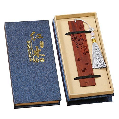 Toirxarn handgefertigtes hölzernes Lesezeichen-Geschenkbox-Set, hölzernes Lesezeichen mit schönen Quasten , ist ein einzigartiges Geschenk für Lehrer, Schüler, Männer und Frauen.