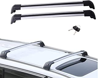 Motorfansclub Top Roof Rack Cross Bar Crossbar Rail Cargo Luggage For Volvo XC60 2013-2018