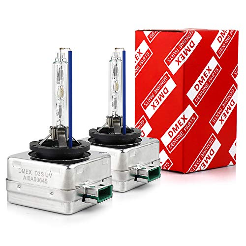 DMEX Hg-free D3S - 35W - HID Headlight Bulbs Xenon 6000K Cold White 66340 42403 42302 Replacement - 2 Yr Warranty - Pack of 2