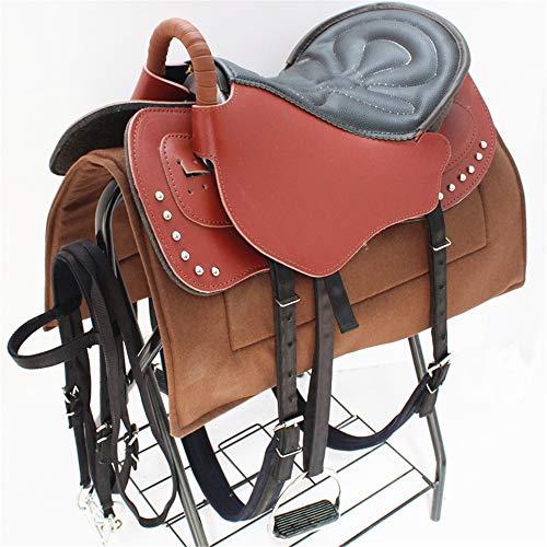 サドルセットNumnah超快適なより深いシートパッド乗馬ハーネス馬術用品スエード品質の一般目的