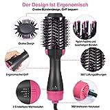 Haartrockner Warmluftbürste, Dee Banna Upgrade 5 In 1 Stylingbürste Hair Dryer & Volumizer Heißluftbürste, Multifunktionaler Negativionen-Föhnbürste, Heißluftkamm für Alle Haartypen - 2
