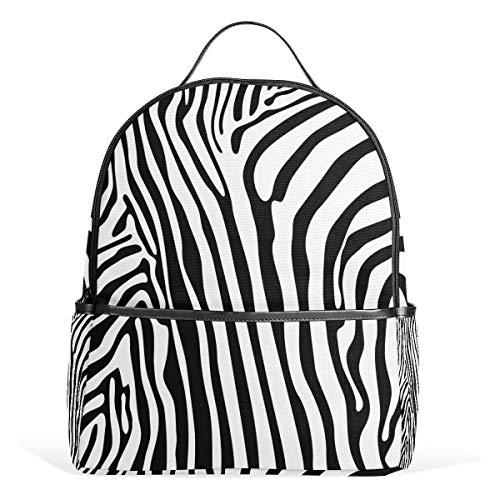 COOSUN Zebra patroon school rugzak lichtgewicht canvas boek tas voor jongens meisjes kinderen