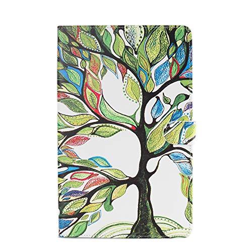 Tablette Hülle für Universal 10 Zoll (9.5-10.5 Zoll) - Tasche Leder Flip Case Etui Schutzhülle Smart Cover für 9.6 9.7 10.1 10.2 10.4 10.5 Tablet Lebensbaum