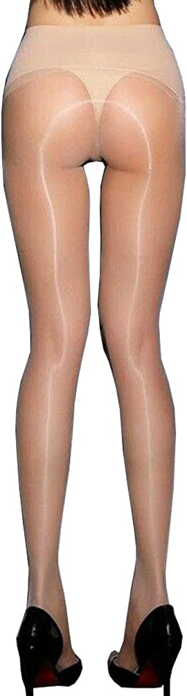 leesuo Women's Sexy 1D Ultrathin High Shiny Glossy Pantyhose Seamless Low Waisted Nylon Sheer Tights Silk Stockings