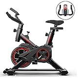 Indoor Speedbike, Indoor Cycle Bike, Einstellbarer Unendlicher Widerstand Schwungrad, leiser Riemenantrieb, LCD-Monitor, ABS Klickpedale, Nutzergewicht Max. 150Kg