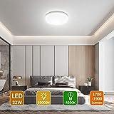 LED Lámpara de Techo,22W Moderna Plafón Led de Techo Redonda Ultra...
