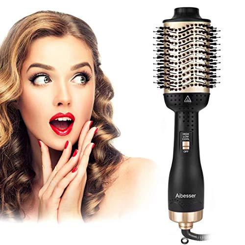 Aibesser Haartrockner Warmluftbürste, 5 In 1 Upgrade Warmluftbürste Hair Dryer Volumizer Styler Föhnbürste Negativer Ionen Stylingbürsten Heißluftbürste Heißluftkamm Volumenbürste Für Alle Styling
