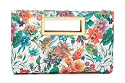 A medium size clutch with a cute colorful flowers print