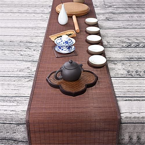 Bordslöpare Brun Bambubordslöpare, Japansk Stil Handgjord Halkfria Bordsmattor för Inomhus Utomhus Trädgård, 30cm, 40cm Bred (Size : 210cm×30cm(82.7in×11.8in))