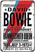 なまけ者雑貨屋 メタルサイン David Bowie in London ヴィンテージ風 ライセンスプレート メタルプレート ブリキ 看板 アンティーク レトロ