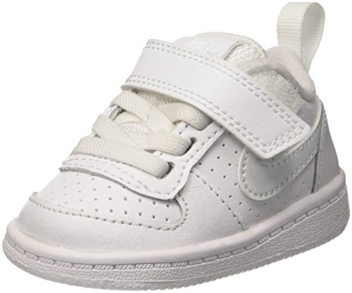 Nike Court Borough Low (TDV), Pantofole Unisex-Bimbi 0-24, Bianco White 100, 21 EU